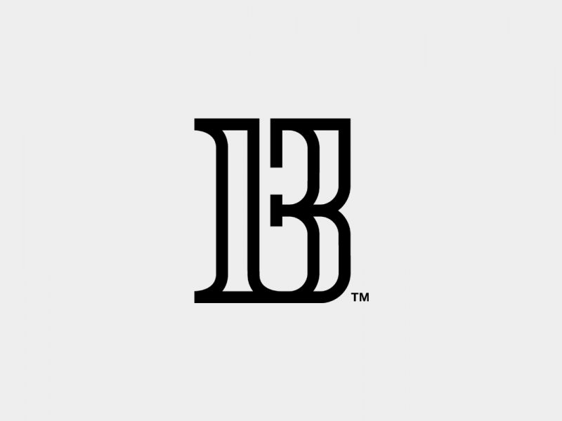 b logo b13 logo b13 logo design